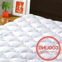 Pillow Top Mattress Topper Queen Size Bed Cover Pad for Memo