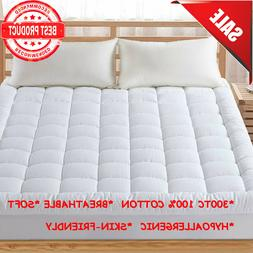 Pillow Top Mattress Cover Queen Size Bed Topper Pad Soft Hyp
