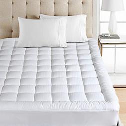 Balichun Pillowtop Mattress Pad Cover 300TC 100% Cotton Down