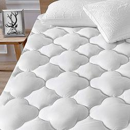 "Pillowtop Mattress Pad Cover 8""-21"" Deep Pocket Cotton Snow"