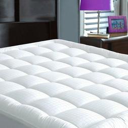 JURLYNE Pillowtop Mattress Pad Cover Queen Size - Hypoallerg