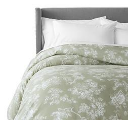 Pinzon 170 Gram Flannel Duvet Cover - Full/Queen, Floral Sag