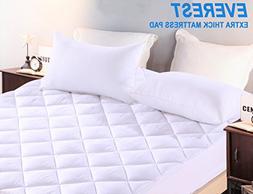 Premium Plus RV Camper Mattress Pad Hypoallergenic Quilted M