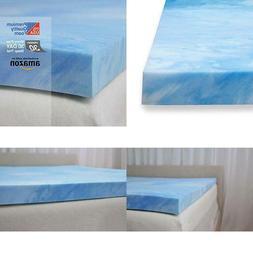Plush 3 Pound High Density Gel Memory Foam Mattress Topper M
