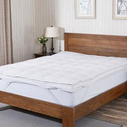 "Puredown® 3"" Premium White Goose Down Feather Mattress Topp"