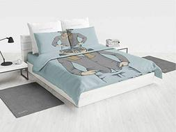 iPrint 4 Pc Duvet Cover Set - Pug,Pattern Ultra Soft Bedding
