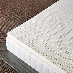 "Pure Green 100% Natural Latex Mattress Topper - Soft - 2"" Qu"