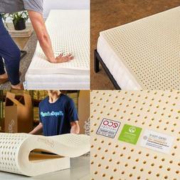 Pure Green 100% Natural Latex Mattress Topper - Soft - 2 Inc