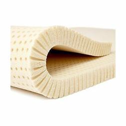 """Pure Green 100% Natural Latex Mattress Topper - Soft - 3"""" Ki"""