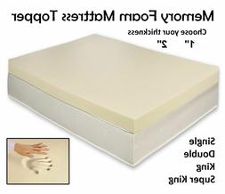 QUALITY Memory Foam Mattress Topper All Depth and Sizes Soft