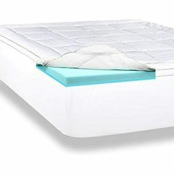 ViscoSoft 4 Inch Gel Memory Foam Queen Mattress Topper - Lux