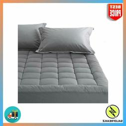 Queen Mattress Pad Cover Down Alternative Filled Topper with