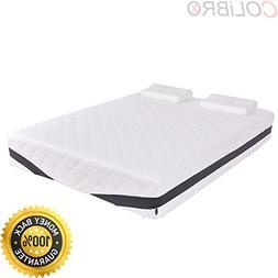"COLIBROX--Queen Size 12"" Memory Foam Mattress Pad Bed Topper"