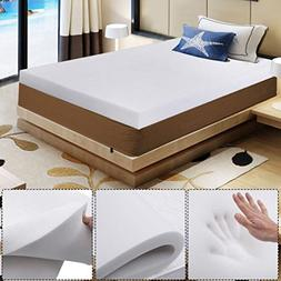"Fashion 3"" QUEEN SIZE MEMORY FOAM MATTRESS PAD BED TOPPER 80"