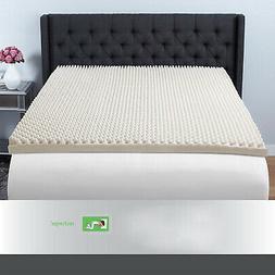 """Queen Size 3"""" Memory Foam Mattress Topper Egg Crate Support"""