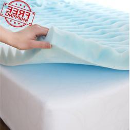 QUEEN Size Foam Mattress Topper 3 Inch Gel Orthopedic Pad Co