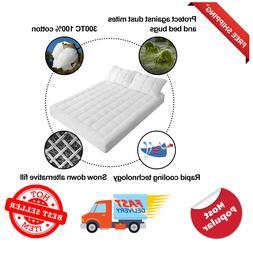 Queen Size Mattress Pad Cover Memory Foam Pillow Top Topper