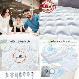 Queen Size Mattress Pad Cover Snow Down Alternative Pillow T