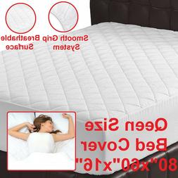 queen size mattress topper luxury quilted fitted