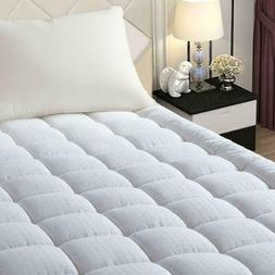 Queen Size Mattress Topper Protector Bed Hypoallergenic Snow