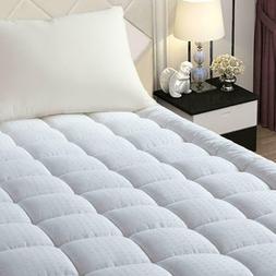 queen size mattress topper protector bed hypoallergenic