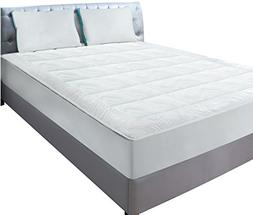 Utopia Bedding King Size Quilted Fitted Fleece Mattress Pad