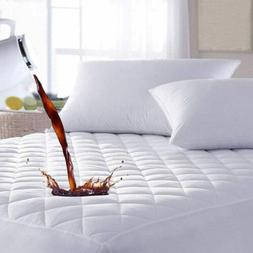 Quilted Mattress Pad Cover Fitted Cooling Bed Sheet Topper B