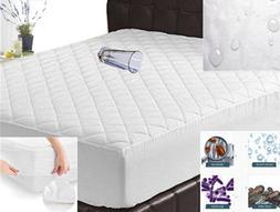 Quilted Mattress Protector Waterproof Hypoallergenic Bed Bug