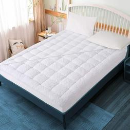 Reversible Pillowtop Mattress Topper Cooling 400TC Warm Plus