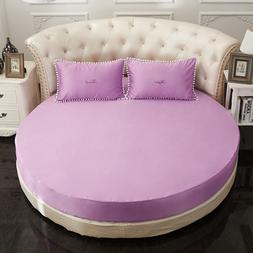 round fitted sheet romantic solid color round