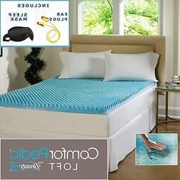 Beautyrest 2-inch Sculpted Gel Memory Foam Mattress Topper S