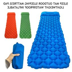 Self Inflatable Mat Outdoor Best Sleeping Pad Hiking Pillow