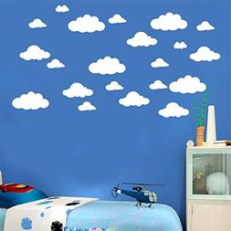 Simayixx 31pcs/set Wall Decals, DIY Large Clouds 4-10 Wall S