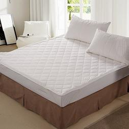 THXSILK 100% Natural Silk Filled Mattress Pad with Cotton Co