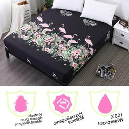 Soft Flamingos Mattress Cover/Protector Mattress Pads Bed Bu