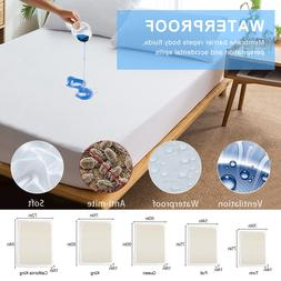 Solid Color Polyester Bed Cover Waterproof <font><b>Mattress