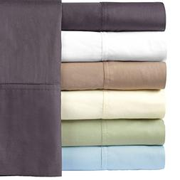 Solid White Silky Soft Hybrid Bamboo Cotton Queen Sheet Set,