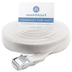 FeelAtHome Strap for Twin Beds - Twin to King Bed Strap - Tw