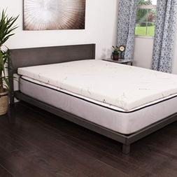 NuForm Talalay Latex 3-inch Mattress Topper White Soft King