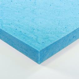 The Sleep Master Gel Memory Foam Topper Mattress Full 2 Inch