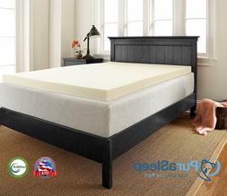 Sleep Innovations 2-Inch Thick 3 Pound Density Premium Memor