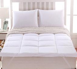 "Sheetsnthings 2"" thick Mattress Pad/ Topper 100% Cotton Twin"