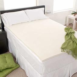 "FoamRush 1 "" Thick Crib Size Memory Foam Pad Mattress Topper"