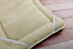 THICK MERINO WOOL PERUGIANO NATURAL Mattress Topper Bed PAD