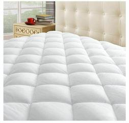 Thick Queen Size Mattress Pad Cover Pillow Top Topper Padded