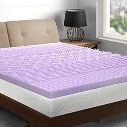 Best Price Mattress King Mattress Topper - 3 inch 5-Zone Mem