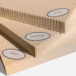 """100% Natural Latex Mattress Topper - Firm - 2"""" Full"""