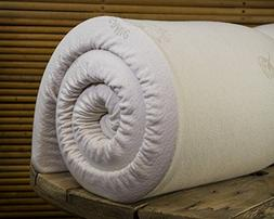 "Cotton Cloud Futons Twin Size 2"" Natural Dunlop Latex Topper"