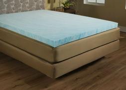SKB Family Twin Size 2-inch Blue Gel Memory Foam Mattress To