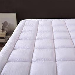 "Cloudream Twin Overfilled Mattress Pad Cover 8-22""Deep Poc"
